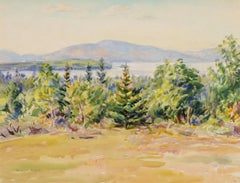 untitled (Maine landscape and view of Mt. Desert)