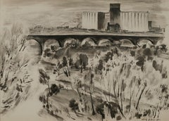 1930s Landscape Drawings and Watercolors