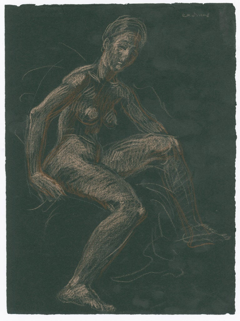 Seated Female Nude - Art by Paul Cadmus