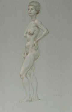Standing Female Nude, Quarter Profile
