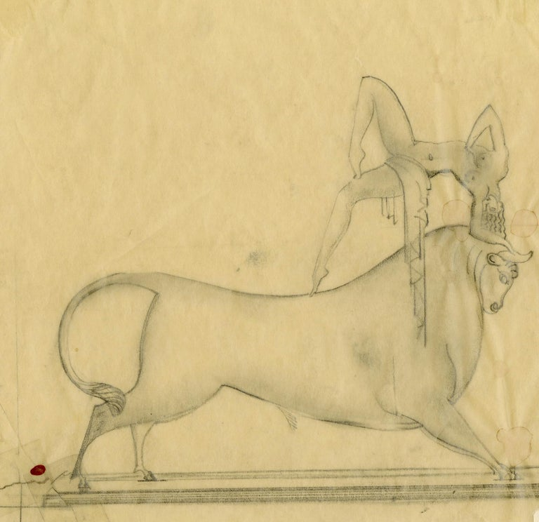 Boris Lovet-Lorski Nude - Preliminary Study for Cretan Dancer Bronze