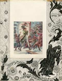 Bob Cratchet and Tiny Tim, A Christmas Carol with original drawings in margins