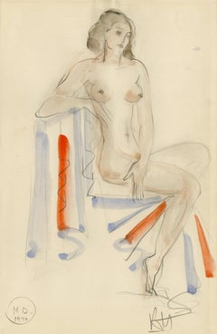 Untitled (Seated Female Nude facing right)