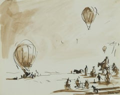 Untitled (Hot Air Baloon Ascent and Spectators)