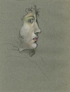 Profile of a Young Woman Looking Right