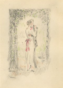 Preliminary drawing for Remy de Gourmont, Couleurs, (Colors, new tales follow...