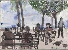 Untitled (Figures in a park)