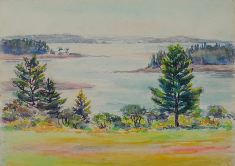Greta Allen Landscape Art - untitled (Mt. Desert Narrows)