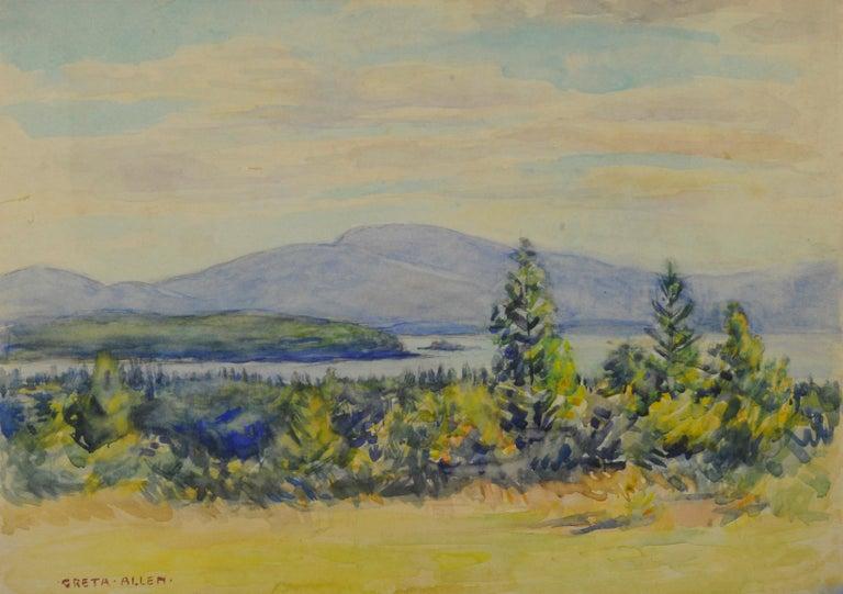 Greta Allen Landscape Art - untitled (Maine Landscape near Mt. Desert Island)