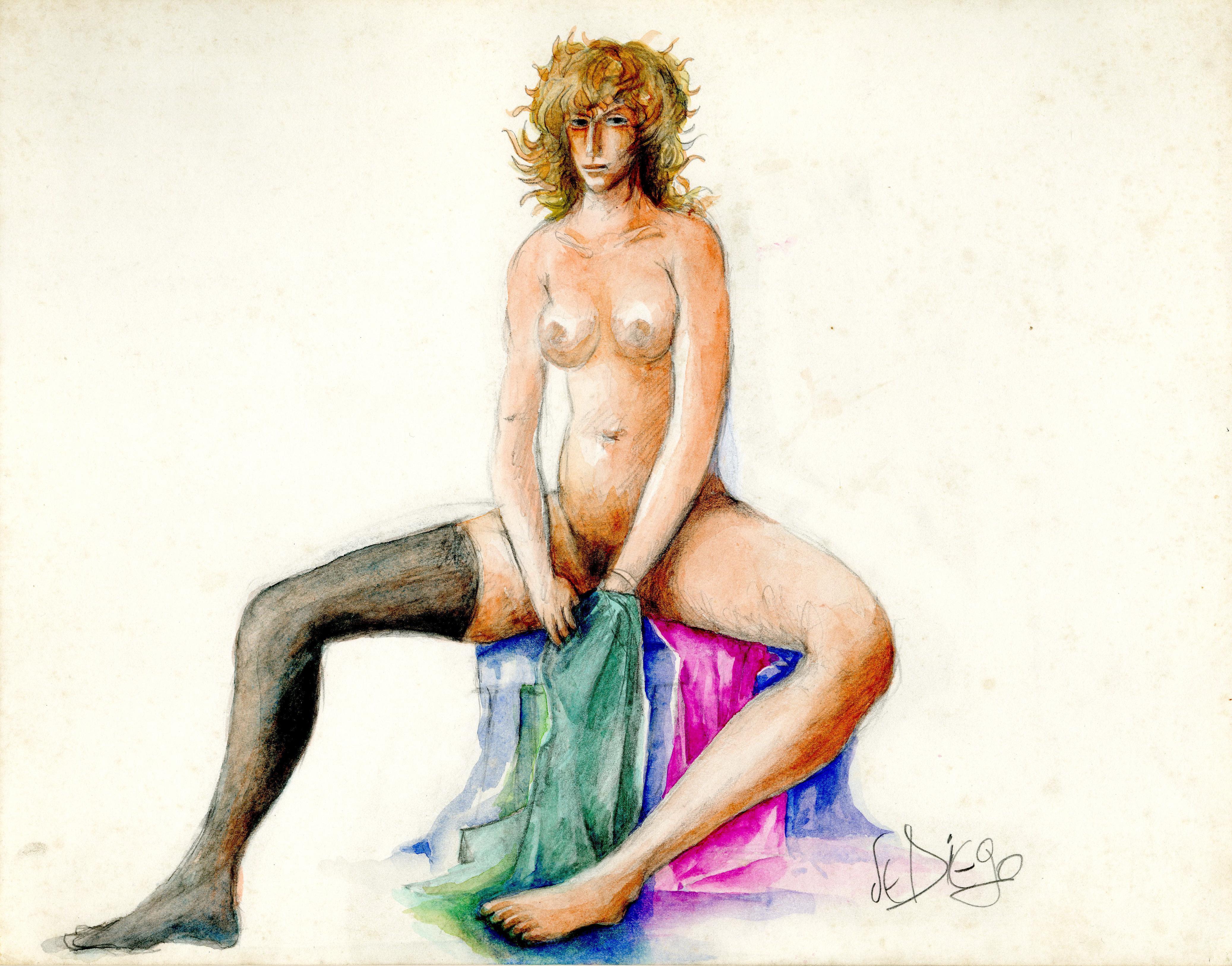 Seated Female Nude (Devora)