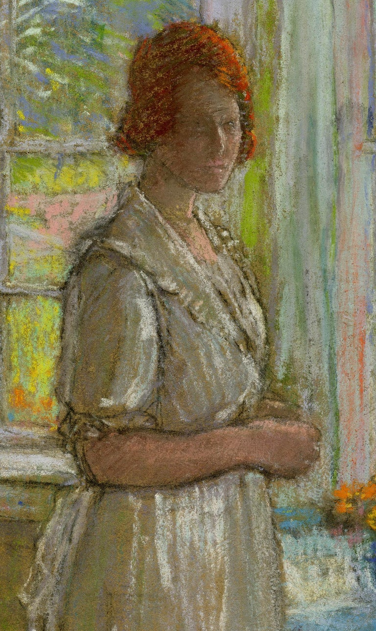 untitled Woman by the Windows - Art by Karl Albert Buehr