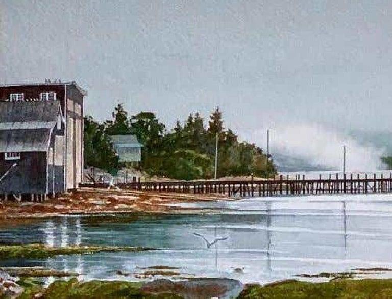 Outgoing Fog (South Bristol, Maine) - Realist Art by Florian K. Lawton