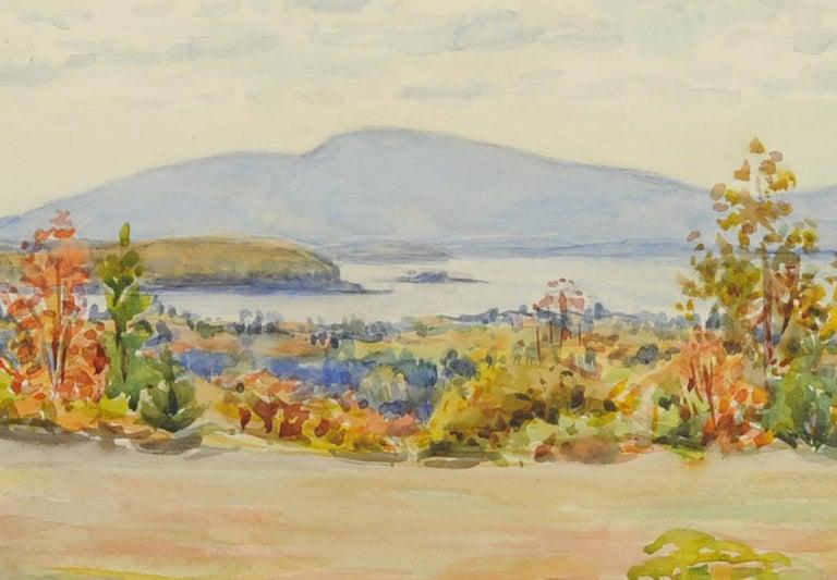 untitled (Maine Landscape across Mt. Desert Narrows) - Art by Greta Allen