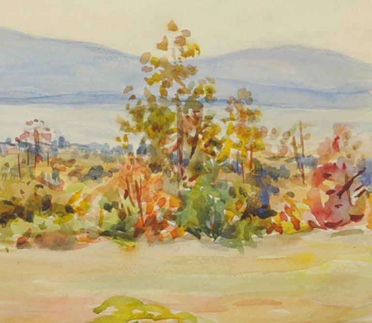 untitled (Maine Landscape across Mt. Desert Narrows) - American Impressionist Art by Greta Allen