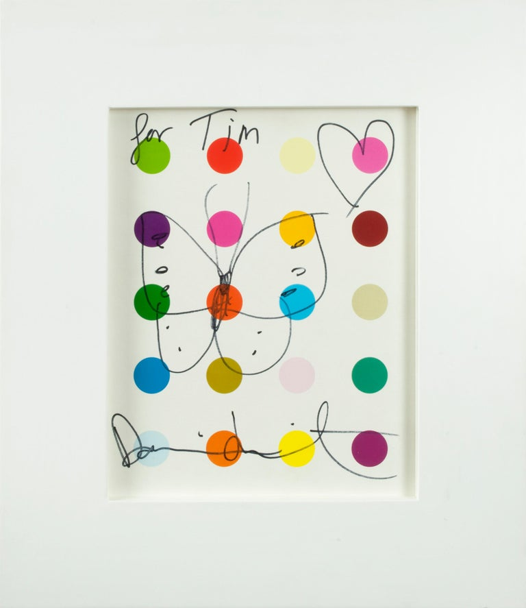 Damien Hirst Abstract Drawing - Butterfly and Heart