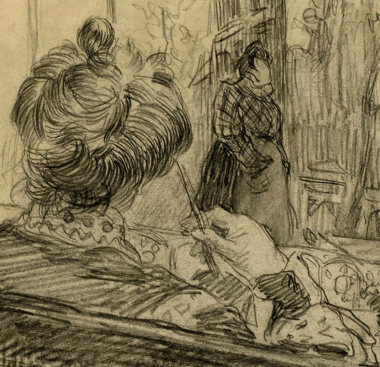 Loge de Theatre (Preliminary study for a painting) - Art by Charles Dufresne