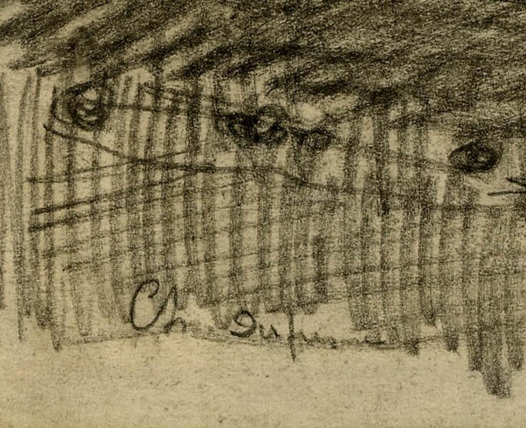 Loge de Theatre (Preliminary study for a painting) - Impressionist Art by Charles Dufresne