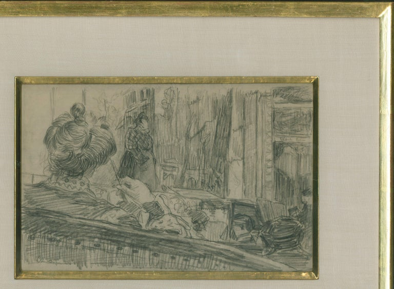 Loge de Theatre (Preliminary study for a painting) For Sale 3