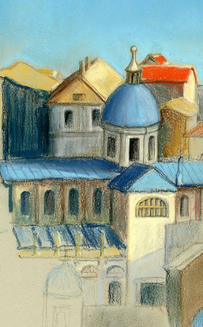Italian Cityscape - Realist Art by Victoria Hutson Huntley