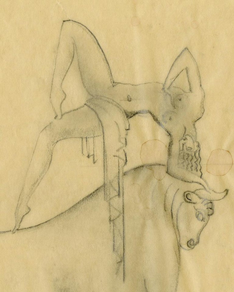Preliminary Study for Cretan Dancer Bronze - Art Deco Art by Boris Lovet-Lorski