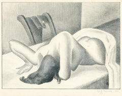 Untitled (Reclining nude, face down)