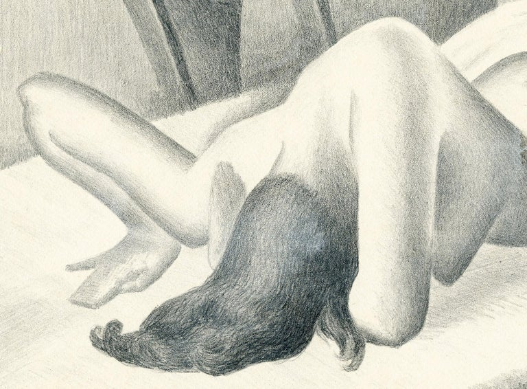 Untitled (Reclining nude, face down) - Print by William Sewell
