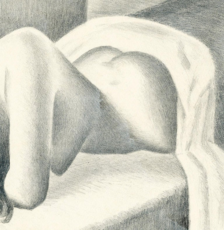 Untitled (Reclining nude, face down) - Art Deco Print by William Sewell