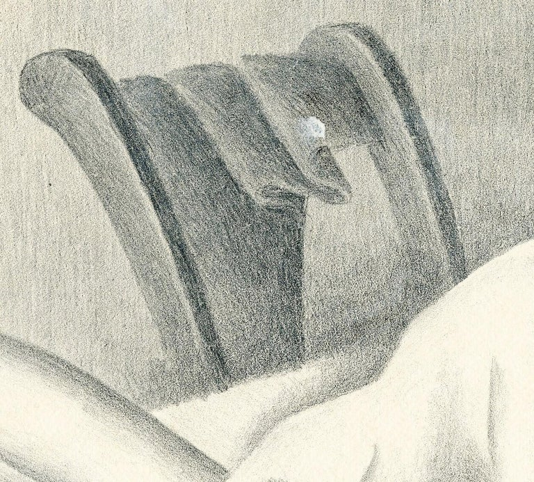 Untitled (Reclining nude, face down) - Beige Nude Print by William Sewell