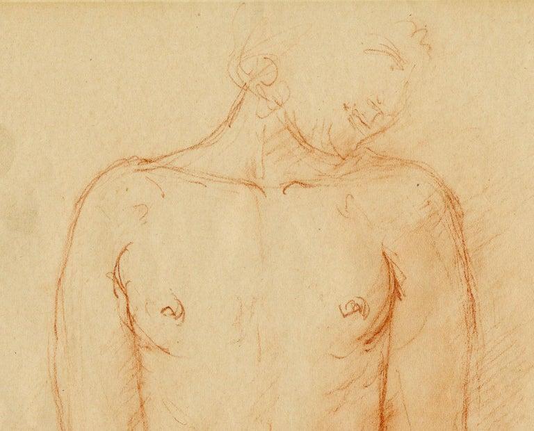 Nu (Standing Female Nude) - Post-Impressionist Art by Charles Despiau