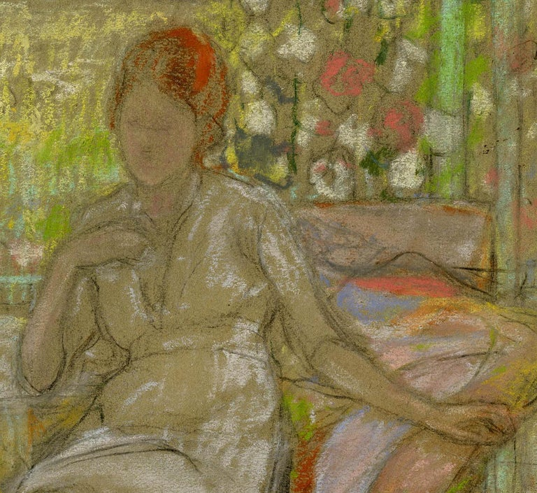Woman on a Patio - Art by Karl Albert Buehr