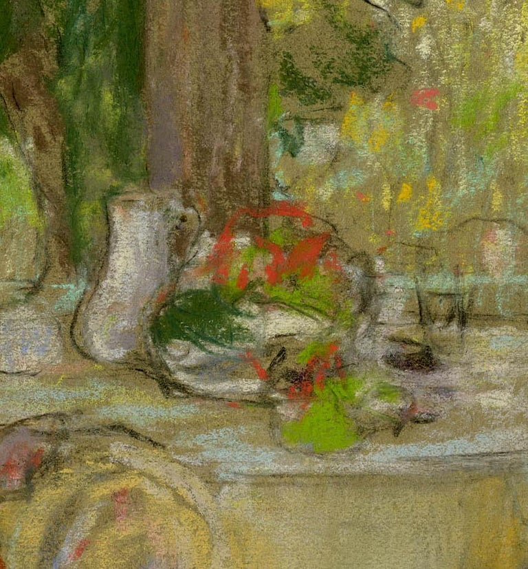 Woman on a Patio - Abstract Impressionist Art by Karl Albert Buehr