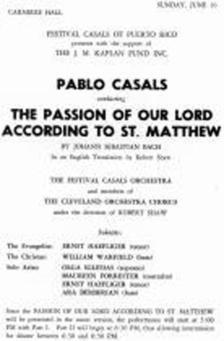 Pablo Casals For Sale 1