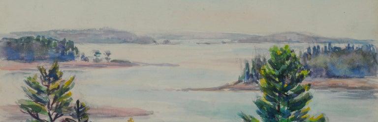 untitled (Mt. Desert Narrows) - Gray Landscape Art by Greta Allen