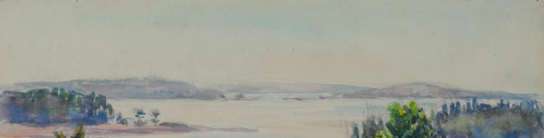 untitled (Mt. Desert Narrows) Watercolor on paper, c. 1945-1955 Unsigned Provenance: Estate of the Artist Condition: Excellent Image/sheet size: 11 1/4 x 15 3/8 inches Regarding the Maine subject matter of her watercolors, we know that Allen taught