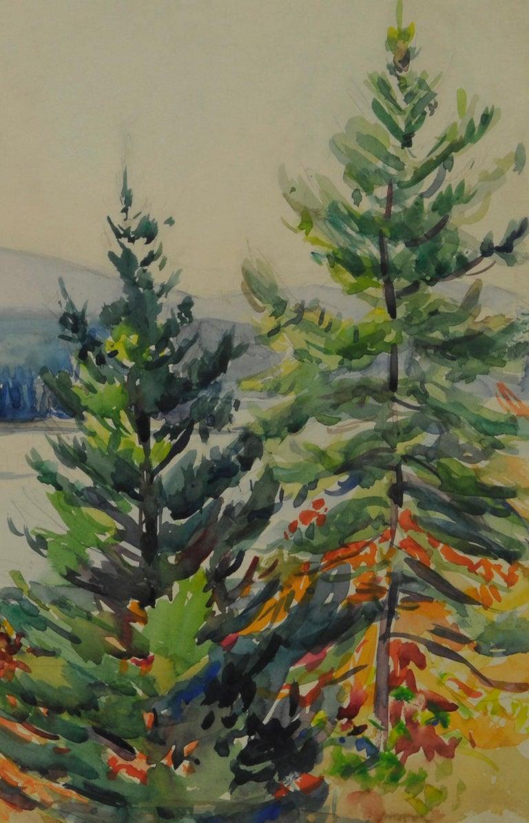 untitled (Maine Autumn Landscape across the narrows from Mt. Desert) - Art by Greta Allen