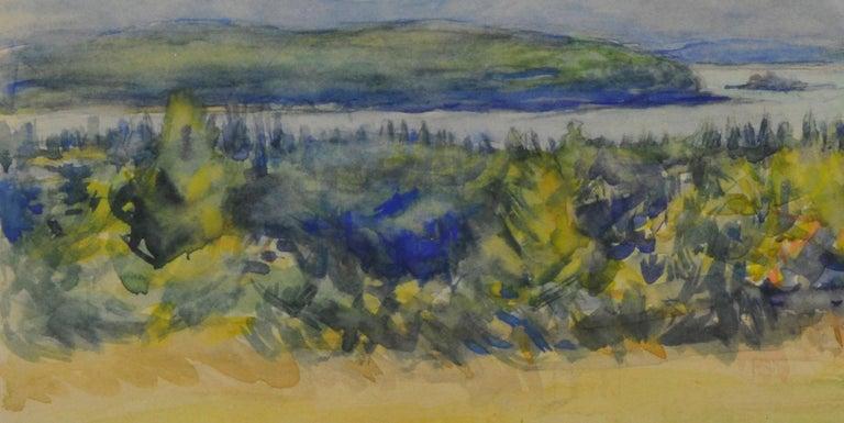 untitled (Maine Landscape near Mt. Desert Island) - American Impressionist Art by Greta Allen
