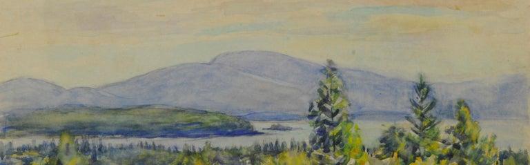 untitled (Maine Landscape near Mt. Desert Island) - Brown Landscape Art by Greta Allen