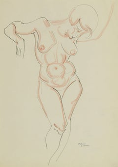 1920s Nude Drawings and Watercolors