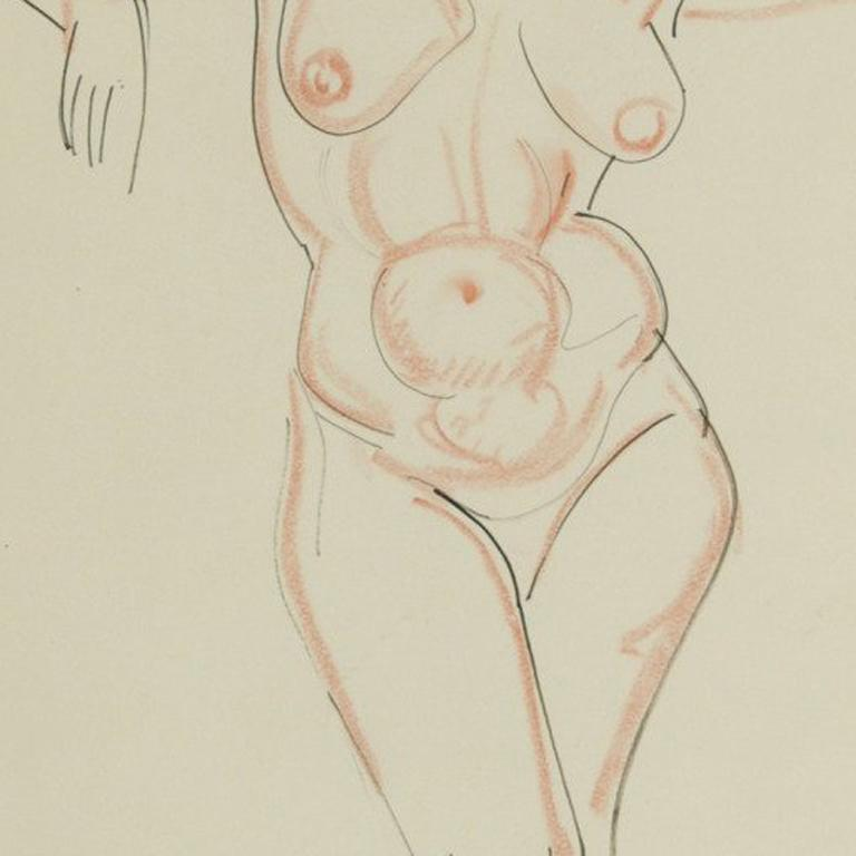Nude, arms raised For Sale 1