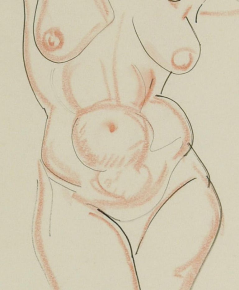 Nude, arms raised For Sale 2