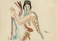 1920s Portrait Drawings and Watercolors