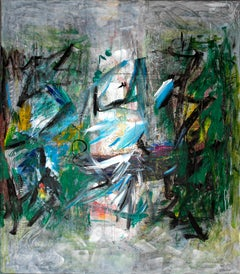 Abstraction - Painting, 21st Century, Abstract, Acrylic, Green, Brushstrokes