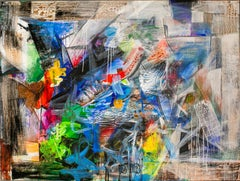 Abstraction - Painting, Abstract, Colourful, Acrylic, Drip, 21st Century