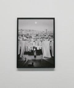 Roma - 21st century, print, digital art, illustration, black and white, framed