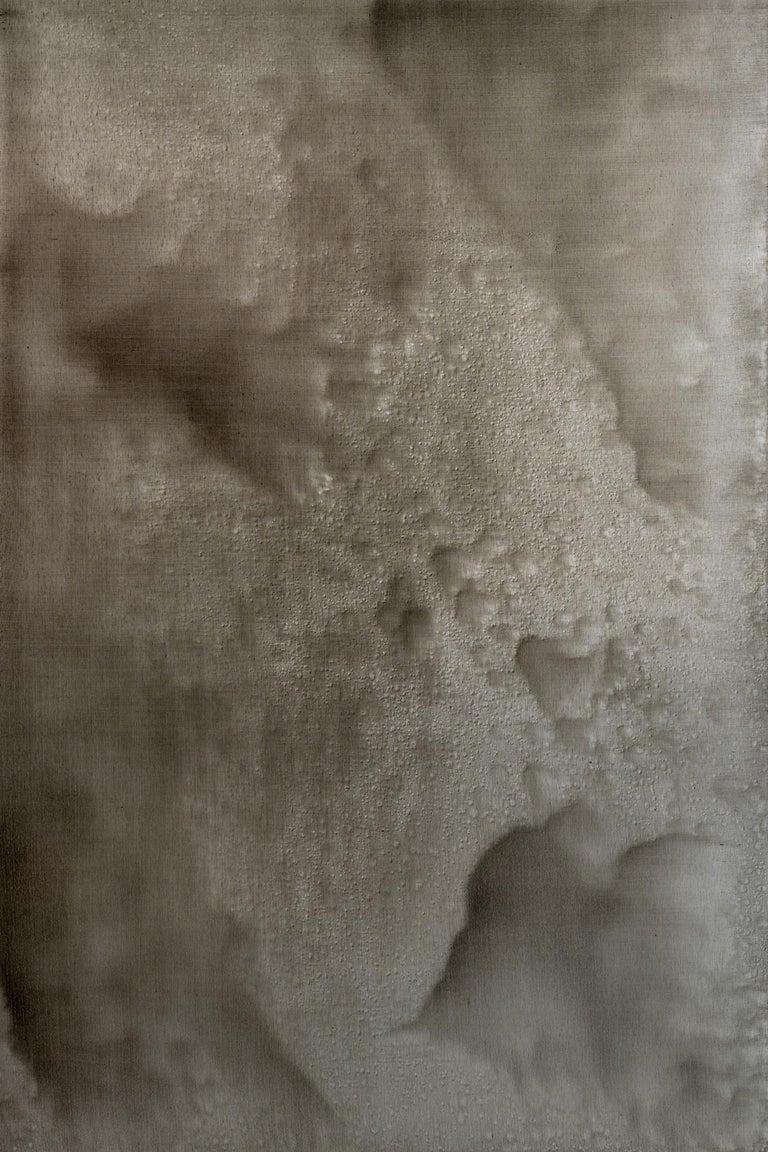 Christo Daskaltsis Abstract Painting - 0620-06 - Painting, Aluminium, Oil, Abstract, 21st Century, Earth Tones