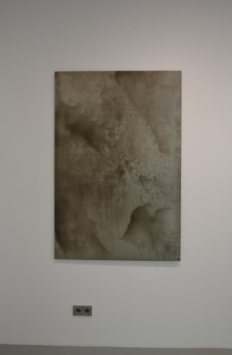 The works by Christo Daskaltsis are truly abstract. Titled only with the date of production, such as in this case 0620-06, the works are left open to interpretation by the viewer. The artist's methodology remains the same for each of his paintings.