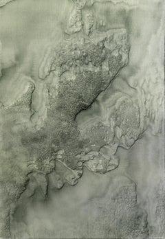 0620-04 - Painting, Aluminium, Oil, Abstract, 21st Century, Green, Grey