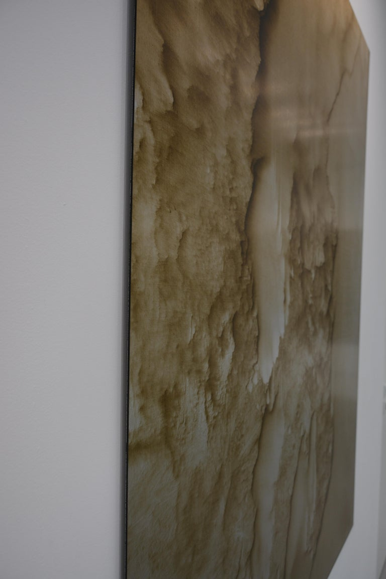 0620-03 - Painting, Aluminium, Oil, Abstract, 21st Century, Sand, Gold For Sale 2