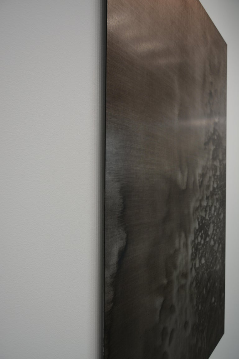 0620-02 - Painting, Aluminium, Oil, Abstract, 21st Century, Brown For Sale 2