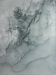 0520-01 - Painting, Aluminium, Oil, Abstract, 21st Century, Blue, Glowing
